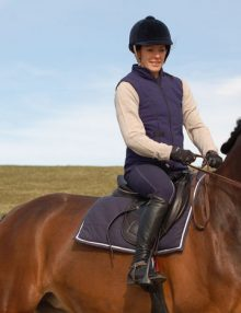 Helite Equestrian Air Shell with Gilet outer