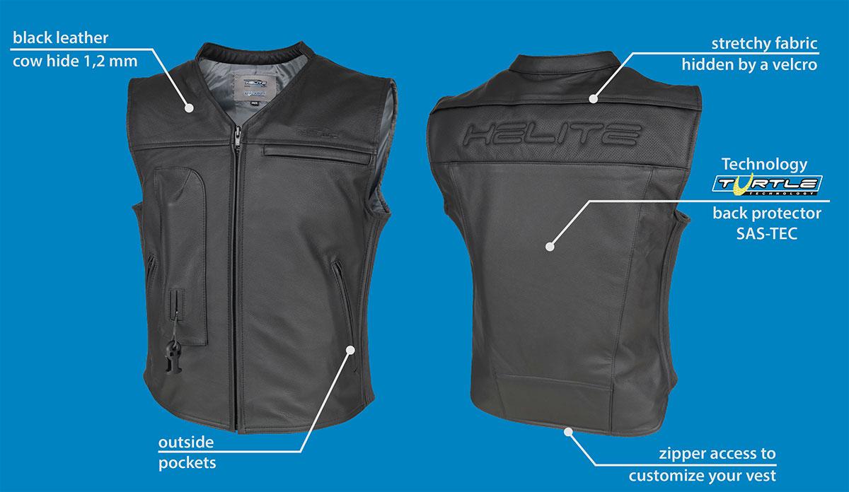 Helite custom moto air vest